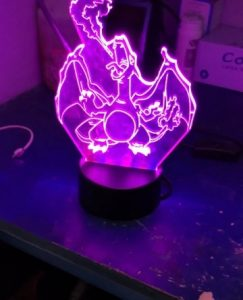 Charizard Colour Changing 3D Light photo review